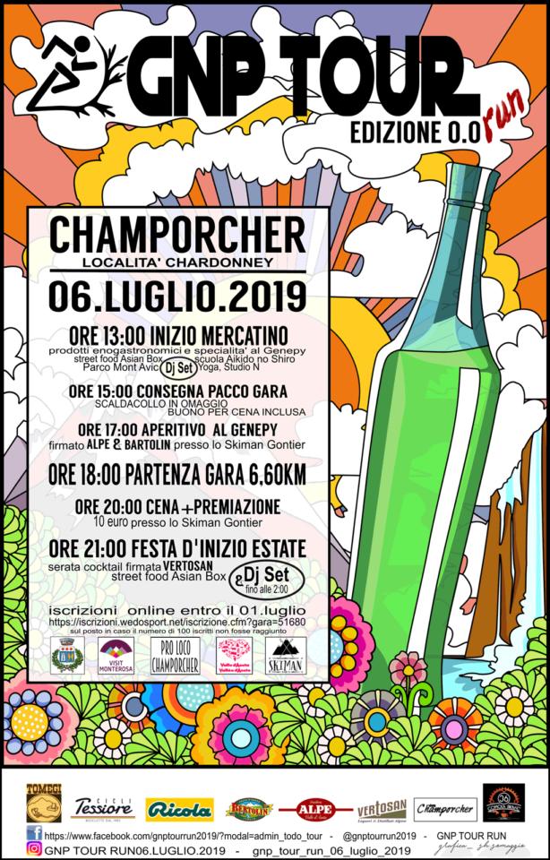 manifesto festa d'estate e genepy a Champorcher